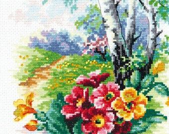 Cross Stitch Kit May blossom