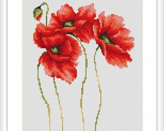 Cross Stitch Kit POPPIES LUCA - S