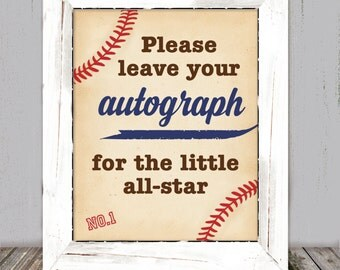 Baseball Book Sign