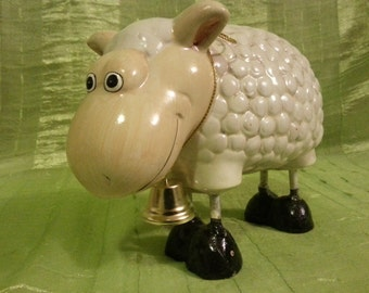 Vintage russian pretty sheep. Cheramics