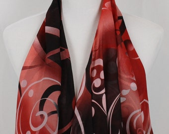 Crimson and Blush Scarf