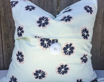 Blue Flowers Pillow