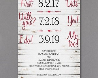 Wedding Save the Date Rustic Look Lot of 50