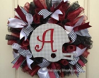 Alabama Wreath, Alabama Deco Mesh Wreath, University of Alabama Wreath, Roll Tide Wreath, Alabama Crimson Tide Wreath