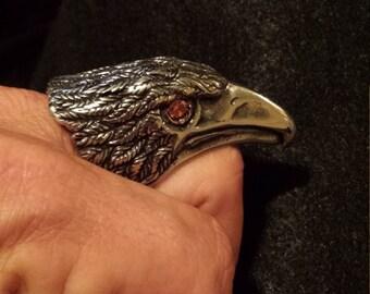 Red eyed hawk ring.
