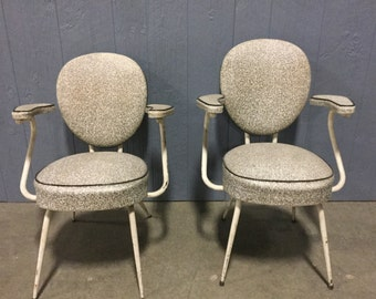 SOLD:  Pair of French Atomic Chairs momma and poppa bear
