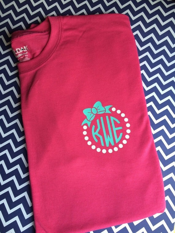 Set of 2 classic monogram shirts womens monogram clothing for Initials on dress shirts