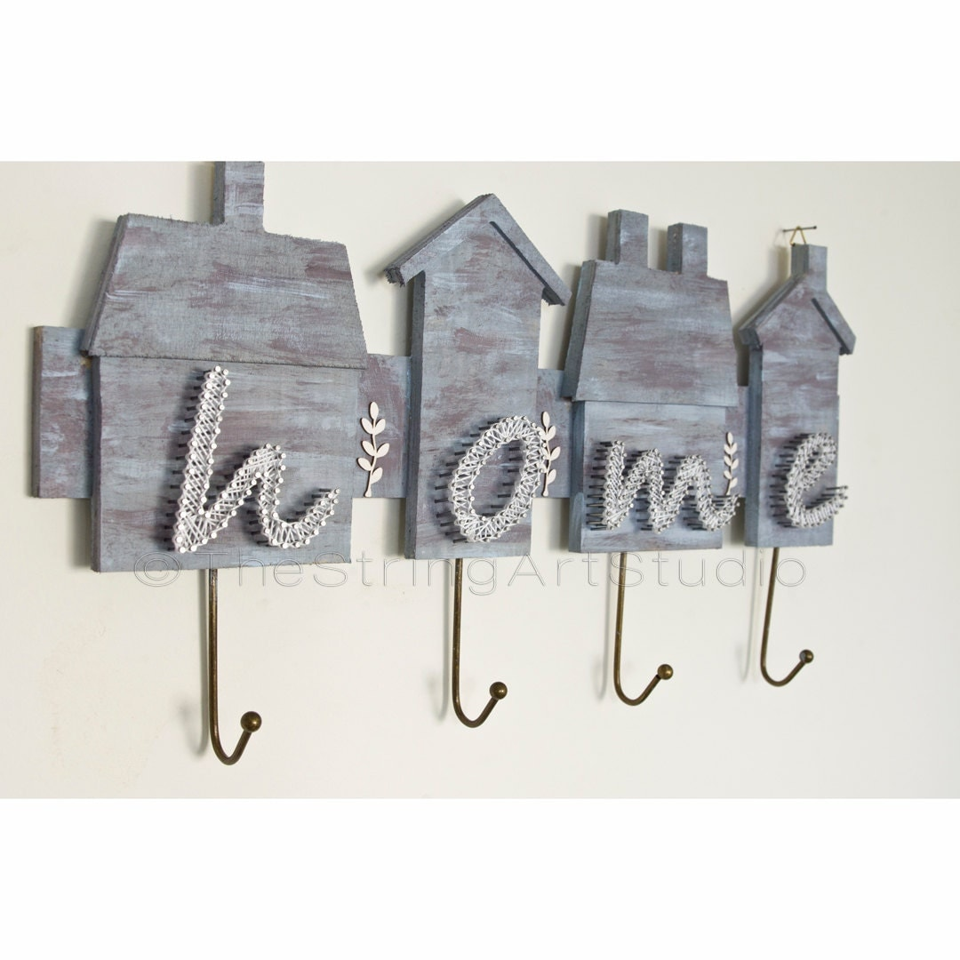 String art wall key holder personalized by thestringartstudio - Keys holder wall ...