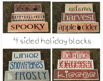 holiday blocks - christmas - halloween - autumn - back to school - spring - st. patricks