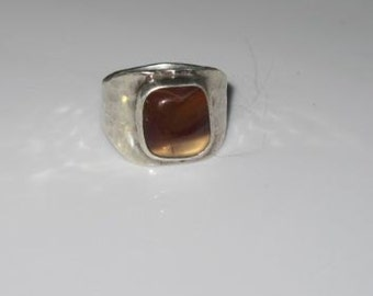 Sterling Silver Ring with Agate Stone