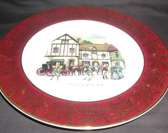 Vintage Weatherby Hanley Royal Falcon Ware Old Coach House York Plate Collectable Plate