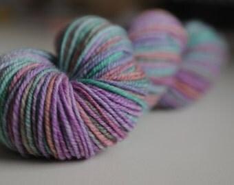 Handspun Chain Ply Wool/Bamboo Yarn. 3 ply.
