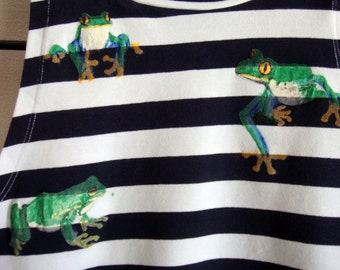 Frog Striped Crop Top size 12