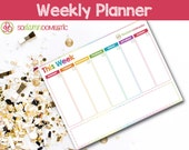 Weekly Printable Planner - Use as a To do list, menu plan, meal planning, water tracker, exercise log, notes, and more