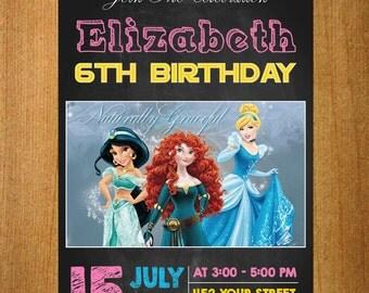 BRAVE Birthday Invitation,Printable Brave Princess Merida Birthday Invite, Brave Merida Invitation, Princess Merida Brave Movie Party | MS11