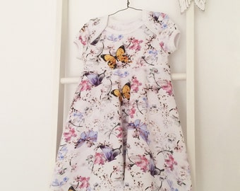 Bodyklänning med kuvertringing stl 50-92. Onesie dress sizes newborn - 2T