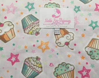 Cupcakes Cloth Diaper One Size Envelope Pocket