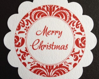 30 Merry Christmas fancy script Gift Treat Tags