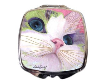 Ali's Eyes Cat Art Compact Mirror