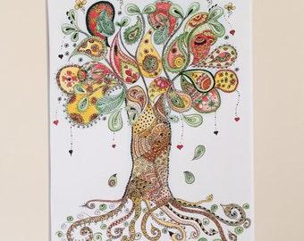 Paisley Tree of Life Print