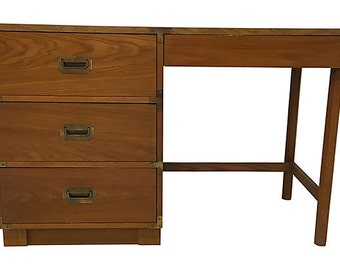 Drexel Campaign Desk,  Campaign Furniture, Mid Century Desk
