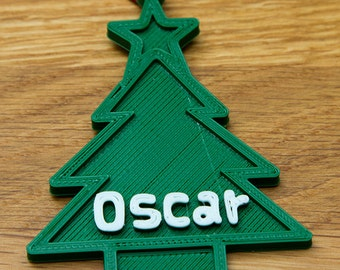 Personalised Christmas Tree Shaped ORnament