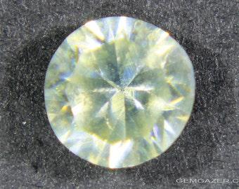 Zincite, faceted, Poland.  1.04 carats.