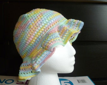 Crochet spring Easter hat, beach hat, sun hat, summer hat, floppy hat