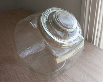 Vintage Glass Cookie Jar