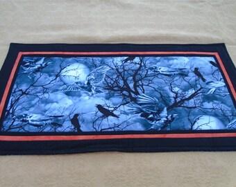 Altar cloth Samhain ravens Hallows Winterfinding