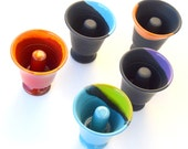 Special Offer...!!! Set of (2)...or (3)...Pythagorean Cups, Fair Cups, Pythagoras, Wine Cup, Ancient Cup, stoneware, pottery, gift