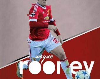 Wayne Rooney - A3 Poster, Football, Manchester United, Man Utd