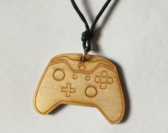 Wooden Xbox and Playstation Controller Necklace, Choose Your Design