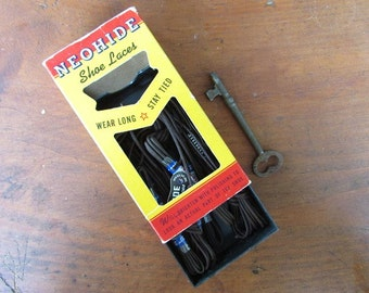 Neohide Vintage Shoe Laces Original Box Advertising