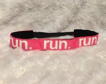 Pink Run Non-slip Adjustable Headband