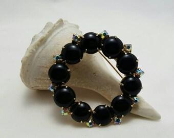 Black Glass Pin