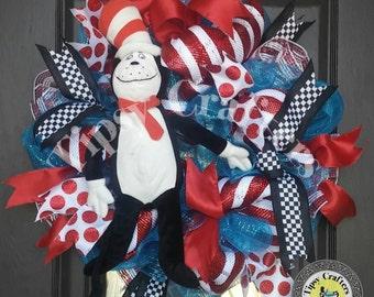 Dr. Seuss Wreath, Cat in the Hat Wreath