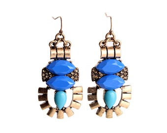 Vintage Egyptian Chandelier Earrings