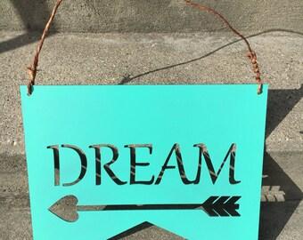 Dream Arrow Banner * Dream Decor Hanging Banner