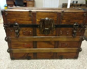 Beautiful Antique Trunk No. 112