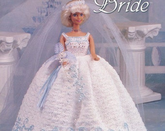 Sky Blue Bride,  Fashion Doll Clothes Crochet Pattern Booklet 871520