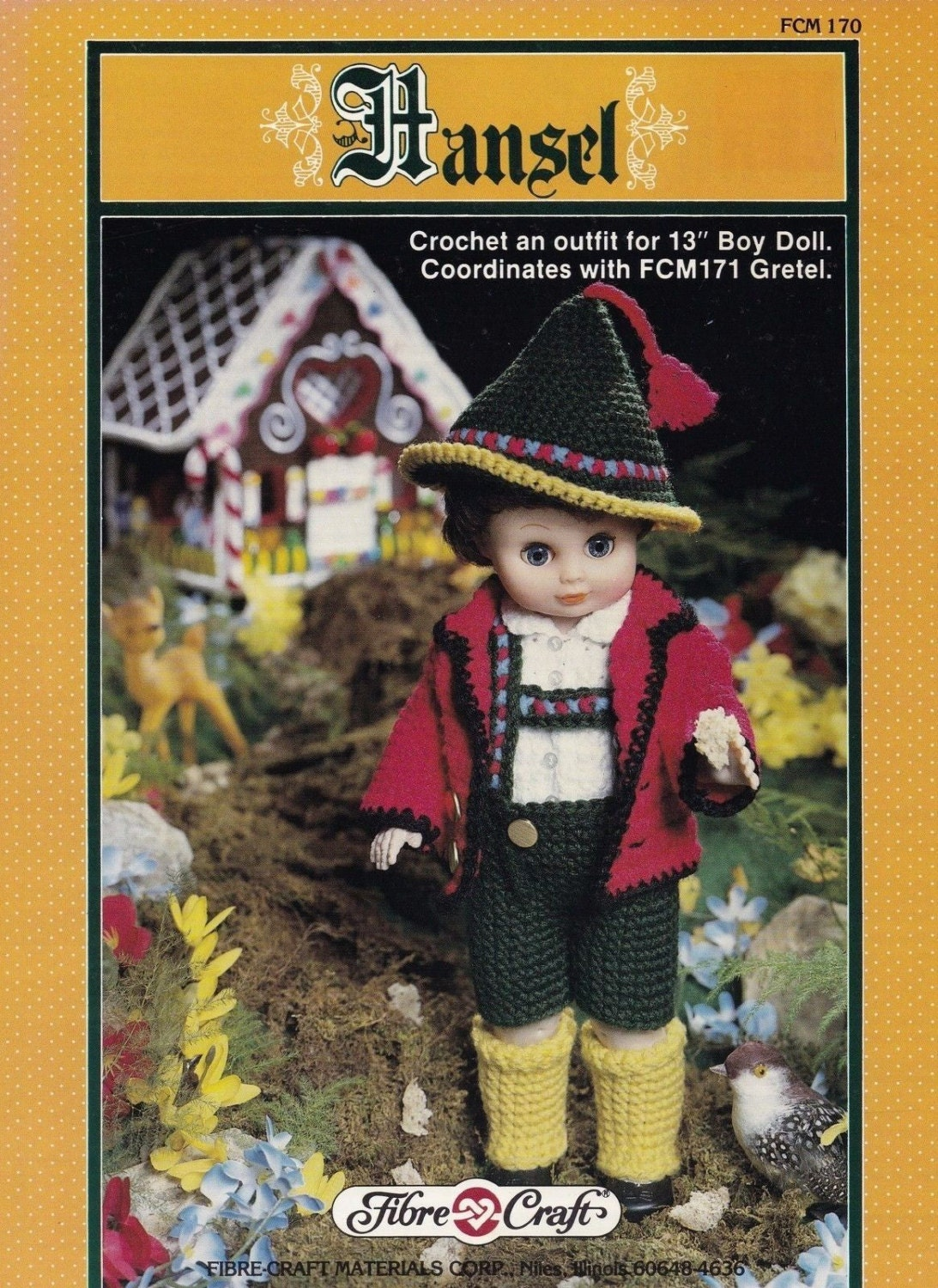 Hansel fibre craft 13 inch male doll clothes crochet pattern for Fibre craft 18 inch doll