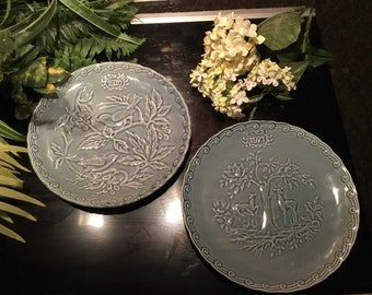Blue/gray plates from France