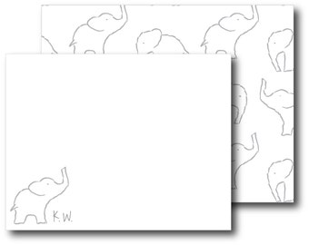 Personalized Stationery Custom Stationery_elephants