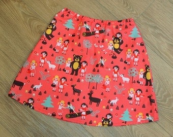 Skirt with fairytale motives