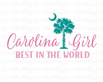Carolina Girl Script Design for Silhouette and other craft cutters (.svg/.dxf/.eps/.pdf)