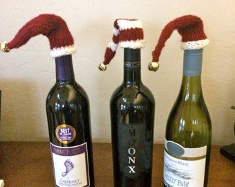 Holiday wine toppers/set of three