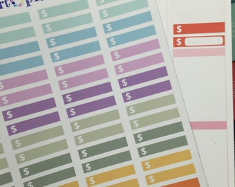88 Money Labels #2 Planner Stickers! Perfect for your Erin Condren Life Planner! Set of 88 stickers!!