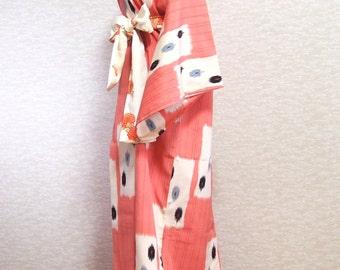 Antique Japanese dress /Kimono robe/vintage kimono/pink