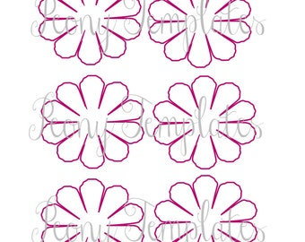 Diy giant paper flower printable templates flower template paper flower printable templates diy peony paper flowers pdf printable flower templates diy pronofoot35fo Images